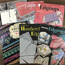 Crochet Tatted Handkerchief Edgings Insertions Vintage Pattern Book You Choose