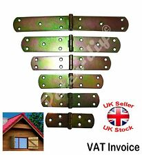 Yellow Galvanised Butt Hinges Door Gate Cabinet 7 Sizes From 120 to 300 mm