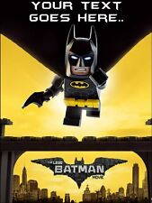 Lego Batman Edible Icing / Edible Wafer Paper Birthday Cake Toppers