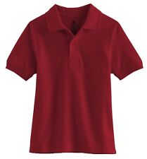 NWT Chaps School Uniform Boys Polo Shirt, Red Sizes 5/6, 7, 10/12