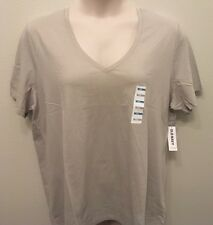 Old Navy XXL Tee Shirt WOMENS White, Black, Gray Relaxed Fit Short Sleeve V-Neck