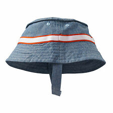OshKosh Baby B'gosh Boys Classic Denim Chambray Bucket Sun Hat 3-9M 12-24M NWT