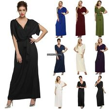 Sexy Women Lady Batwing Sleeve Deep V Neck Long Dress Party Evening casual DKVP