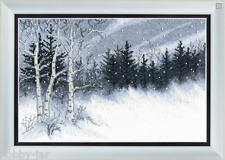 EMBROIDERY KIT COUNTED CROSS STITCH KIT CRYSTAL ART WINTER NIGHT NATURE BT-099