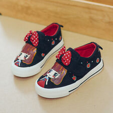 2017 Spring Girls Shoes Children's Canvas Shoes Girls Sport Sneakers Kids Shoes