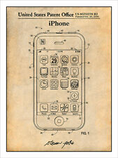 Steve Jobs Apple iPhone Patent Print Art Drawing Poster 18X24