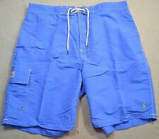 NWT MENS POLO RALPH LAUREN CLASSIC BERMUDA BLUE BOARD SHORTS SWIM TRUNKS SZ L XL