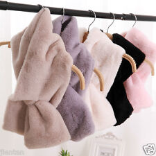 New Women Rabbit Fur Scarf Shawl Collar Neck Stole Cape Scarves Wamer Scarf Wrap
