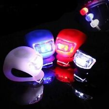 Silicone Bike Bicycle Cycling Flexible Front Rear Clip LED FlashLight Cycle Lamp