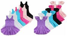 Girls Kid Sporting Ballet Dance Party Tutu Dress Leotard Dancewear Costume 2-14