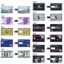 Ultra Slim Credit Card Style 4/8/16/32/64GB USB2.0 Memory Flash Drive U Disk Lot