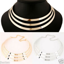 Vintage Gothic Hollow Golden Multi-layer Pendant Choker Collar Necklace Jewelry