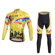 Men Cycling Jersey Long Sleeve Bike Clothing Bicycle Pants Suit Autumn Wear