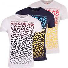Crosshatch Mens Short Sleeved Crew Neck T Shirt Multi Colour Printed Fashion Tee
