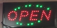 19 x 10 Animated Motion Running LED OPEN SIGN , Free WiFi Sign & Coffee Sign