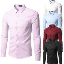 Fashion Men's Luxury Casual Slim Fit Long Sleeve Casual Dress Shirts LK109 Hot