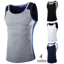 New Fashion Mens T-Shirt Cotton Sleeveless Muscle Tee Shirts Vest Tank Tops ha1