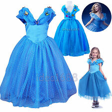 Classic Princess Cinderella Dress for Cosplay Costume Girls Easter Fancy Outfit