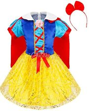 Snow White Costume Kids Princess Halloween Fancy Dress Cosplay Parties Ball Gown