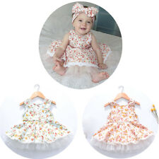 Cute Toddler Baby Girl Floral Dress Princess Tulle Skirt Party Flower Sundress