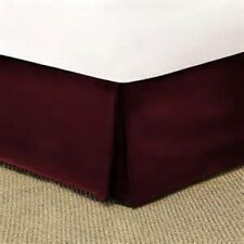 1 PC Bed Skirt Valance Egyptian Cotton 1000 TC Drop 15 Inch Wine Solid