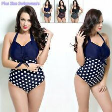 New Beach Swimsuit Women Dot Swimwear Bathing Suit Triangle Bikini Vintage F7