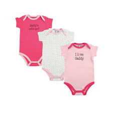 """Luvable Friends """"I Love Daddy"""" Bodysuit 3 Pack - NWT"""