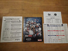 New England Patriots vs Houston Texans 1/14/17 Playoffs Gillette Stadium Program
