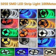 100M 60LEDs/M 5050 Flexible Waterproof IP65 SMD Strip Light Free Shipping By DHL