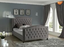 SAREER Kingston Luxury Studded Double 4FT6 + King Size 5FT Fabric Bed