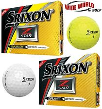 NEW 2017 SRIXON Z-STAR GOLF BALLS - YELLOW / WHITE - PICK 2, 4, OR 6 DOZEN