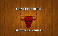 Center Court tickets - Chicago Bulls vs Atlanta Hawks 4/1/17 United UC