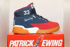 Mens Ewing Athletics Patrick Ewing Patriot USA Edition 33 HI Navy / Red /Gum