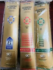 Gonesh Incense Sticks Multiple Scents Mixed Lot of 5x 10x 20x 50x 100x packs