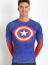 Under Armour Shirts Captain America Heatgear Compression Longsleeve
