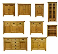 Rustic Solid Oak Sideboard / Cupboard / Dresser  / Display Cabinet / Unit Hutch
