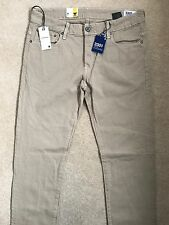 """G-STAR RAW 3301 LOW TAPERED FIT KHAKI JEANS CHINOS PANTS - 34"""" x 34"""" NEW & TAGS"""