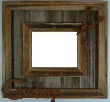 NEW RUSTIC FARMHOUSE METAL COWBOY SPUR BARNWOOD PICTURE PHOTO CANVAS FRAME DECOR