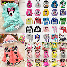 Kids Baby Girl Boys Mickey Minnie Mouse Hoodie Sweatshirt Coat Jacket Tops 1-8Y