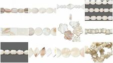 Cream/White/Ivory Mother of Pearl & Freshwater Pearl Beads - Post 99p per order