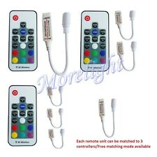 5/12/24V RF Wireless Remote Controllers Group LED RGB Strip 5050 3528 4PIN