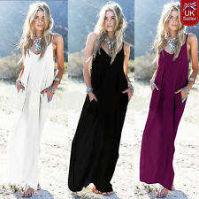 Hippie Boho Women Summer Evening Cocktail Party Beach Long Maxi Dress Size 10-24