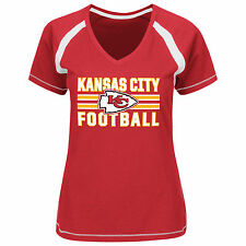 Kansas City Chiefs NFL Womens Majestic Her Game Day Shirt Red Plus Size 4X