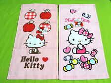 NEW 2x Hello Kitty Hand Wash Towel Set! Pink + Light Pink Sanrio HK Absorbent