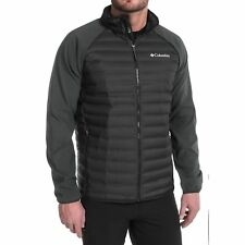 COLUMBIA MENS M-L-XL-XXL FLASH FORWARD HYBRID DOWN/SOFTSHELL JACKET