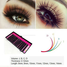 Makeup Individual False Lash 0.12mm Thick J, B, C, D Curl - Eyelash Extension