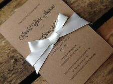 Personalised Vintage Rustic Wedding Invitation Invite Guest Info RSVP Sample