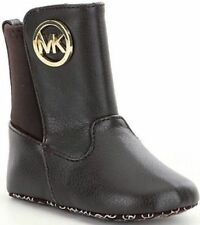 NIB MICHAEL MICHAEL KORS BABY/INFANT LIZY GIRLS BOOTS 888 SIZE 1 BROWN $40 MSRP