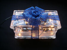 Gorgeous Christmas Dark or Aqua Blue or Purple Glass Block Light - Great Gift!