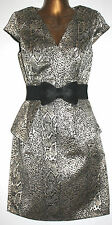New ladies Gorgeous Black/White/Gold effect Party,cocktail dress Size uk 12-18